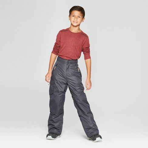 4abd43984bc0b Boys  Solid Snow Pants - C9 Champion® Charcoal   Target