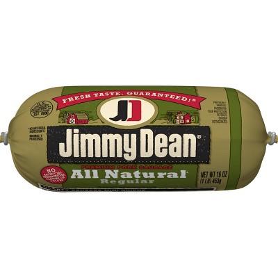 Jimmy Dean All Natural Ground Pork Sausage Roll - 16oz