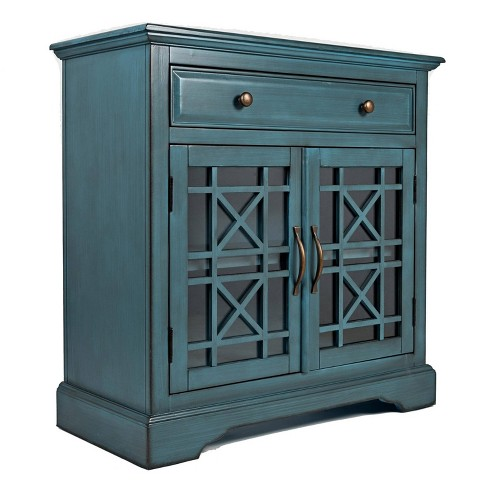 "32"" Craftsmen Series Spacious Wooden Accent Cabinet - Benzara - image 1 of 4"