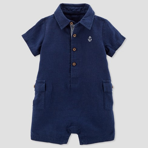 d596ec033 Baby Boys  Canvas Romper - Just One You® Made By Carter s Navy   Target