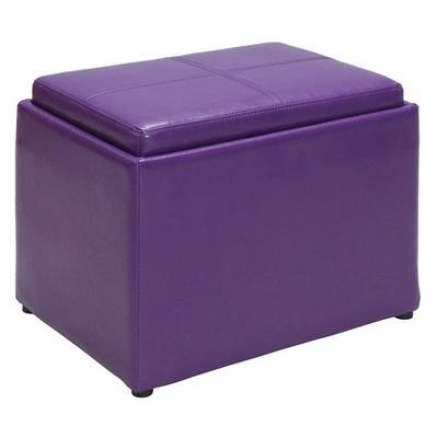 Accent Storage Ottoman Purple - Breighton Home
