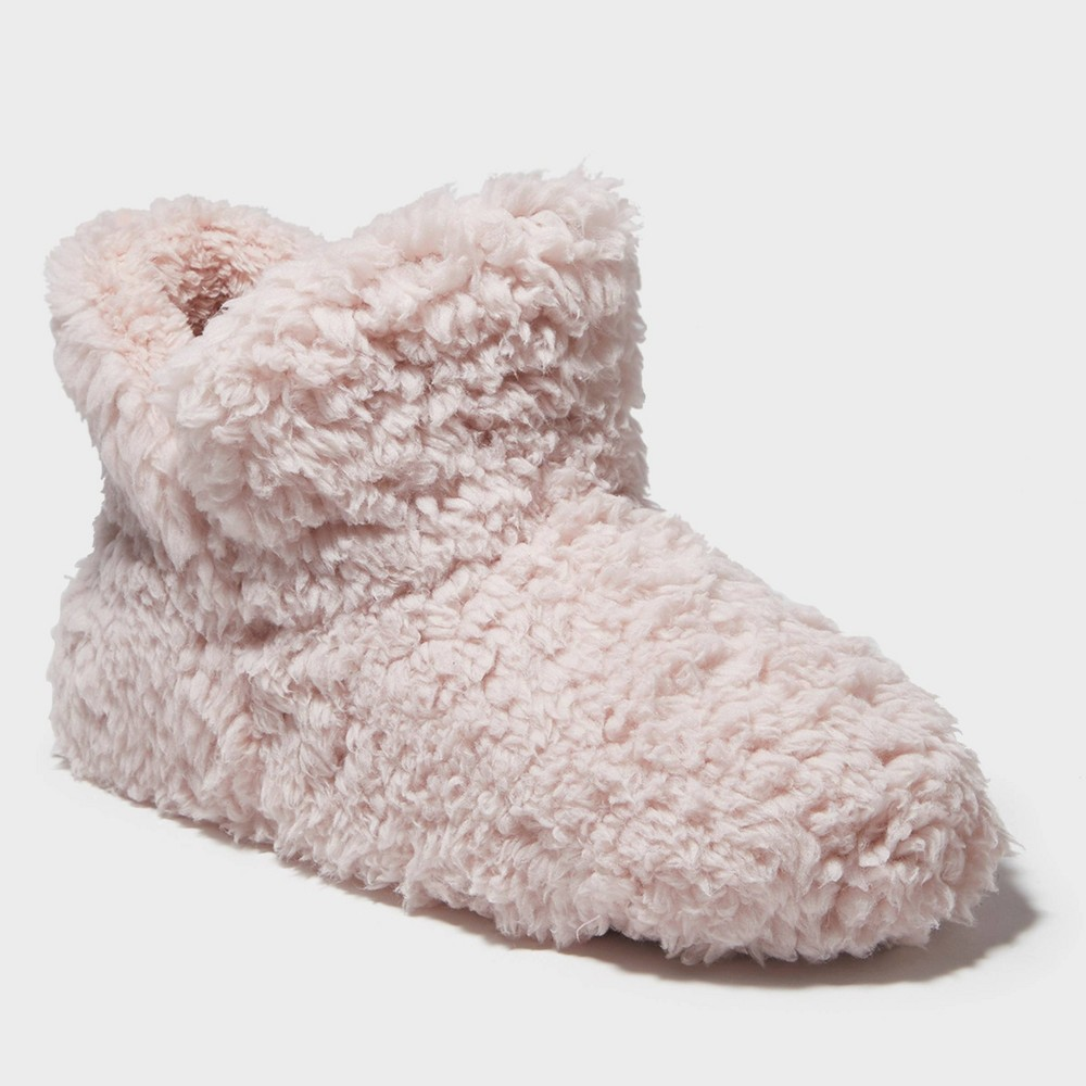 Image of Women's dluxe by dearfoams Evelynne Bootie Slippers - Pink L(9-10), Size: Large (9-10)