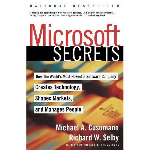 Microsoft Secrets - by  Michael A Cusumano (Paperback) - image 1 of 1