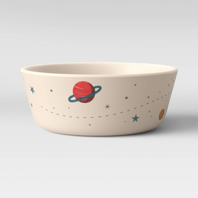 15oz Bamboo and Melamine Spaceship Kids Bowl - Pillowfort™