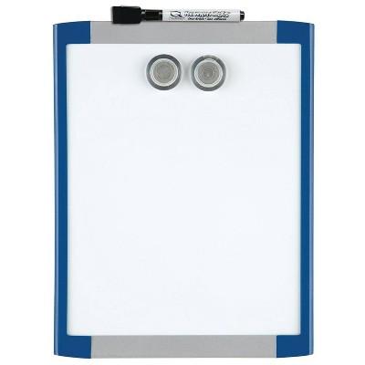 """Quartet 8.5"""" x 11"""" Magnetic Dry Erase Board - Blue Frame"""