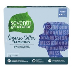 Seventh Generation Free & Clear Tampons - Regular Absorbency - 18ct