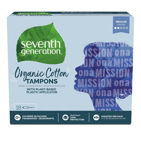 Seventh Generation Tampons with Comfort Applicator - 18ct - image 1 of 4