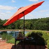 Aluminum Market Tilt Solar Patio Umbrella 9' Fade-Resistant - Orange - Sunnydaze Decor - image 2 of 4