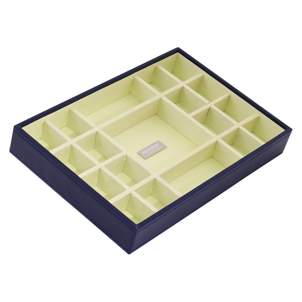 Wolf Multi-Compartment Medium Stackable Jewelry Tray - Purple