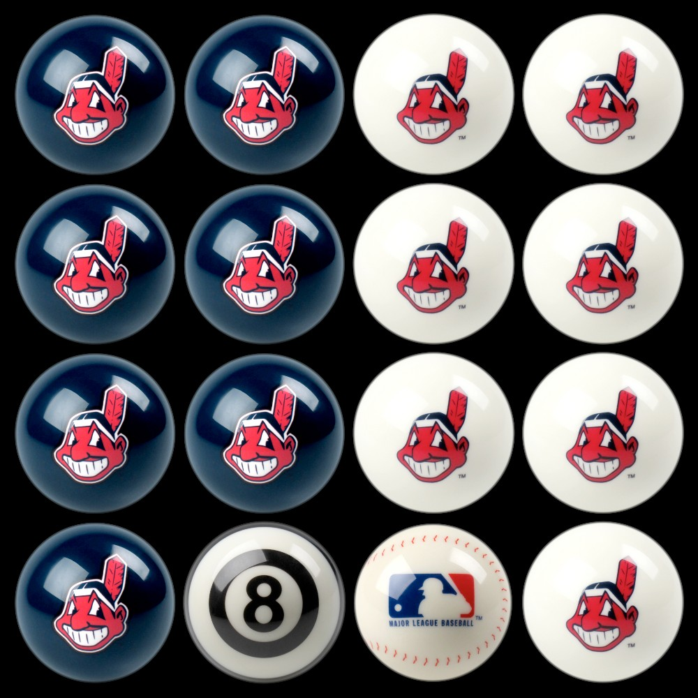 Cleveland Indians Imperial Home vs. Away Billiards Ball Set