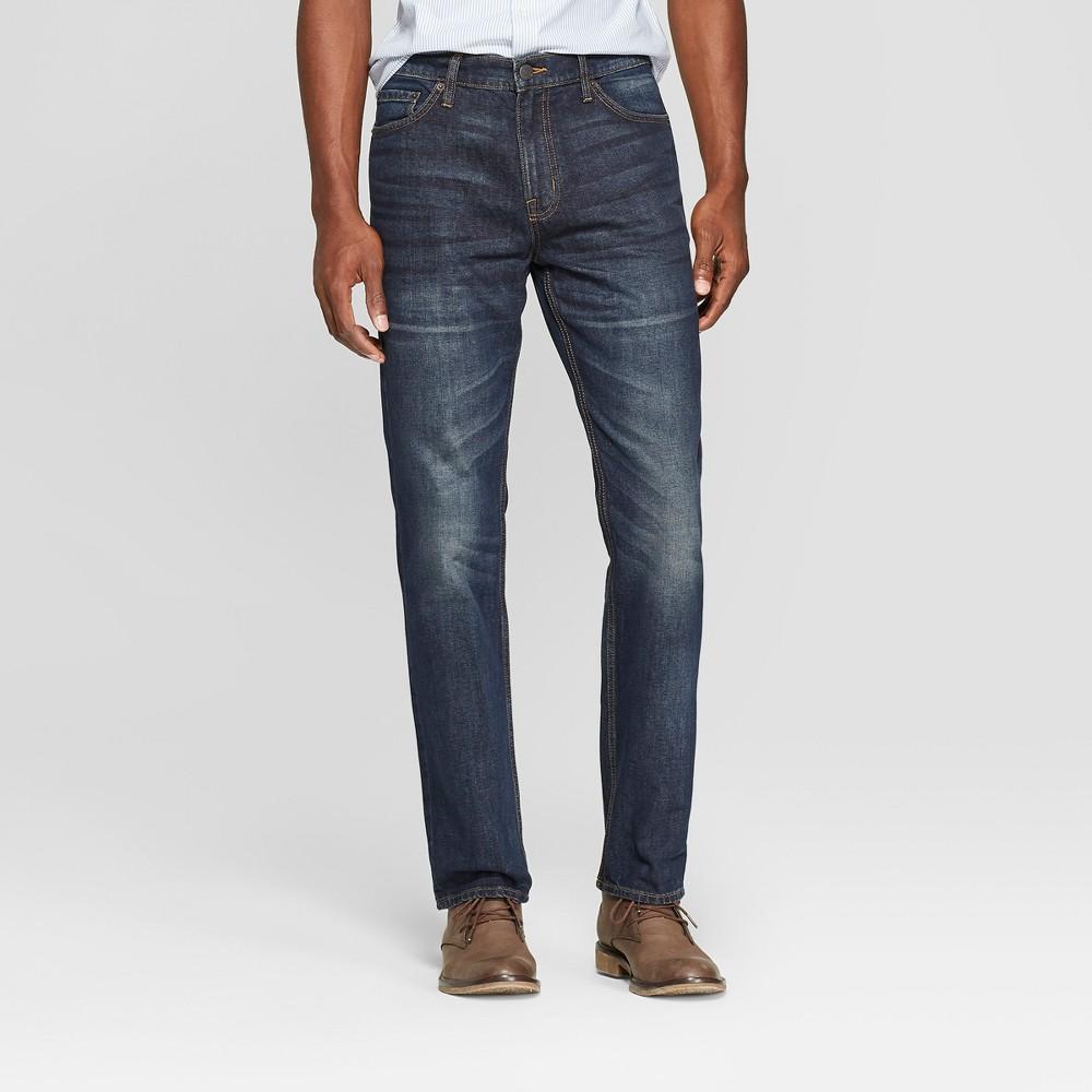 Men's Straight Fit Jeans - Goodfellow & Co Dark Wash 32x32, Blue