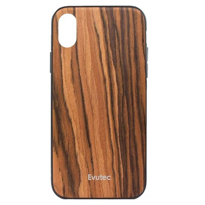 Evutec Apple iPhone XR Case (with Car Vent Mount) - Burmese Rosewood
