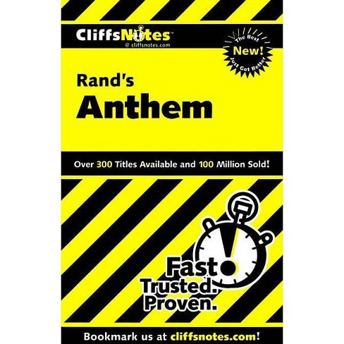 Cliffsnotes on Rand's Anthem - (Cliffsnotes Literature Guides) by  Andrew Bernstein (Paperback) - image 1 of 1