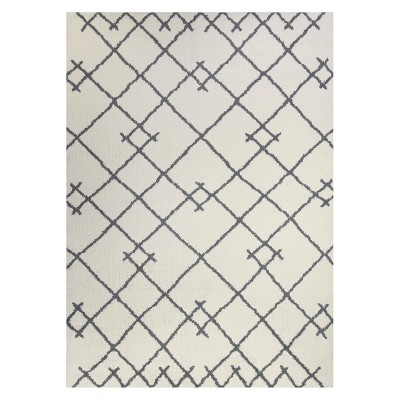 7'X10' Kenya Tribal Design Tufted Area Rugs Cream - Project 62™