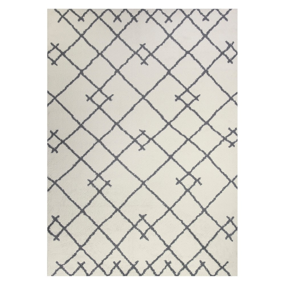 7'X10' Kenya Tribal Design Tufted Area Rugs Cream (Ivory) - Project 62