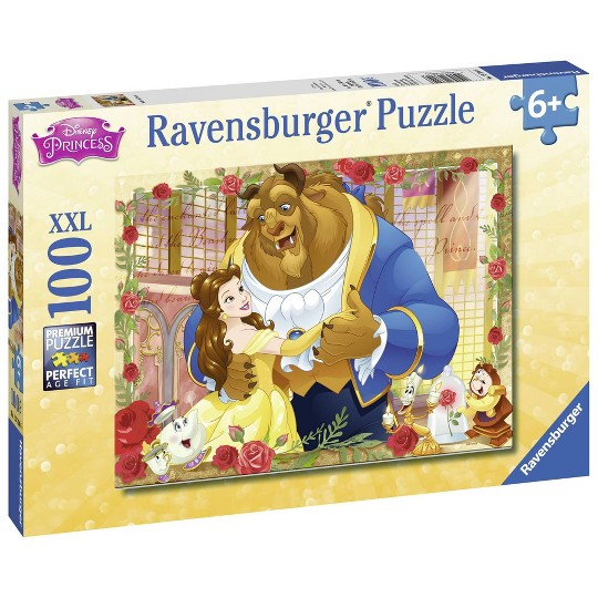 Ravensburger Belle and Beast Puzzle 100pc, Kids Unisex image number null