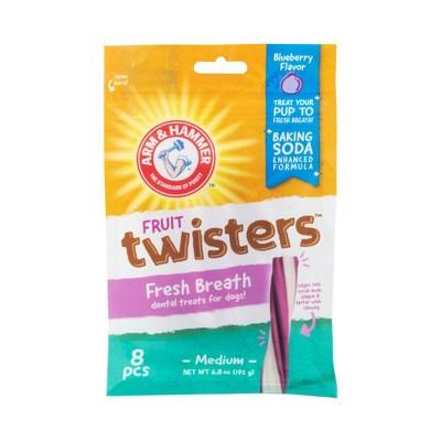 Arm & Hammer Twisters Pet Treats Blueberry Flavor Dog Treats - 8ct