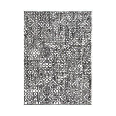 8'x10' Mannin Jute/Wool Rug Charcoal/Ivory - Anji Mountain