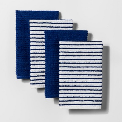 Dancing Blue Stripe Kitchen Towel - Room Essentials™