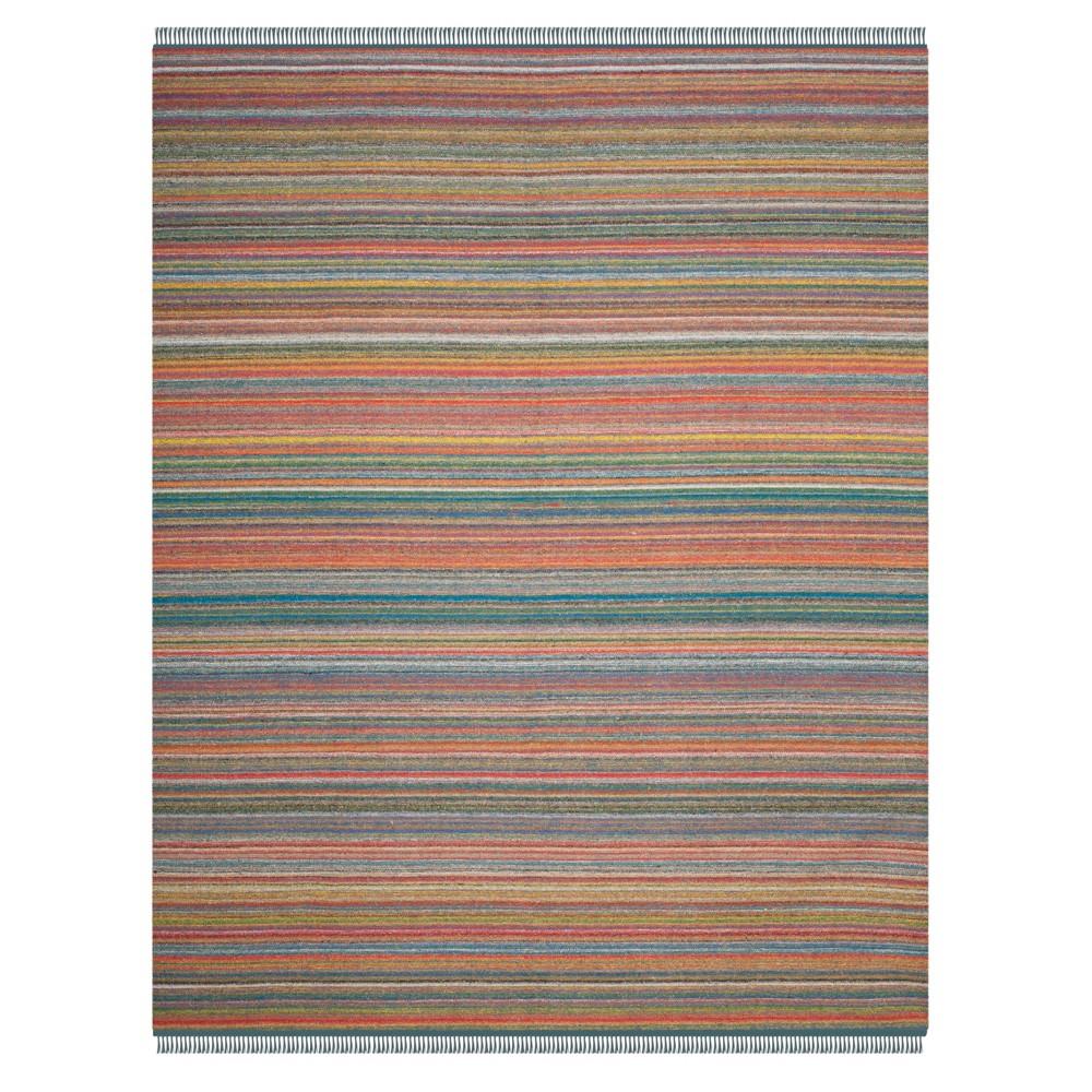 Blue/orange Stripe Woven Area Rug 8'X10' - Safavieh, Bluenorange