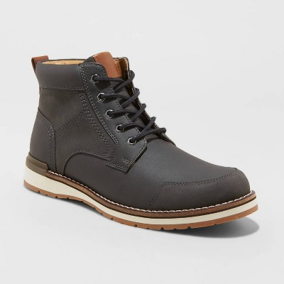 Men's Gaven Lace-Up Ankle Boots - Goodfellow & Co™ Charcoal Gray