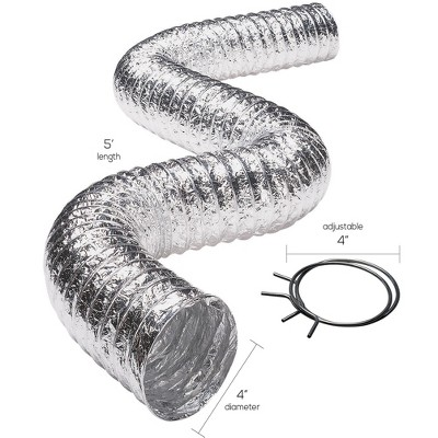 Deflect-O Deflecto F0408msx/30 Aluminum Duct VENFO408MSX