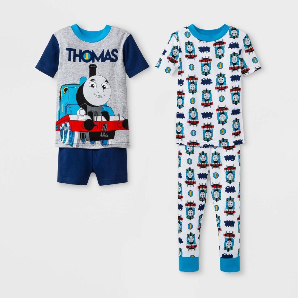Toddler Boys' Thomas & Friends 4pc Pajama Set - Navy/White 2T, Blue