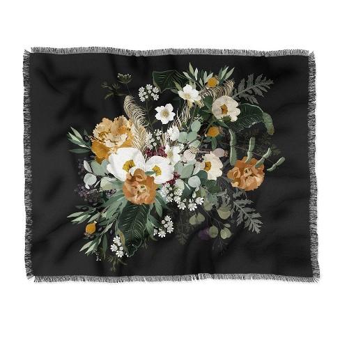 Iveta Abolina Paloma Night Woven Throw Blanket Black - Deny Designs - image 1 of 2