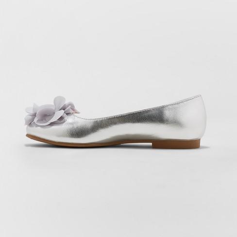 d54cad6486f Girls  Flowers By Nina Muriel Dressy Ballet Flats   Target