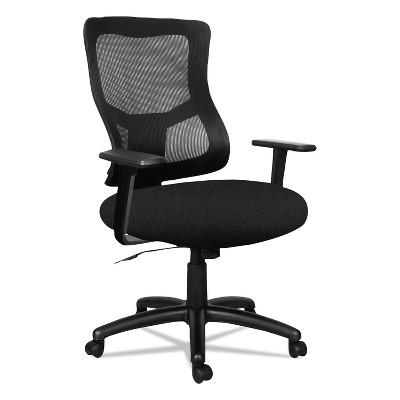 Alera Elusion II Series Mesh Mid-Back Swivel/Tilt Chair with Adjustable Arms Black ELT4214F
