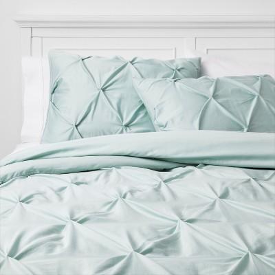 Full/Queen Pinch Pleat Comforter Set Mint - Threshold™