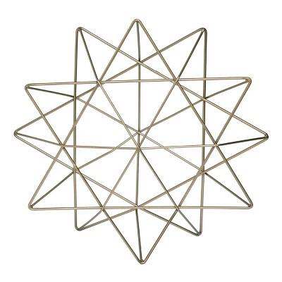Transpac Metal 9 in. Gold Hanukkah Geometric Star of David