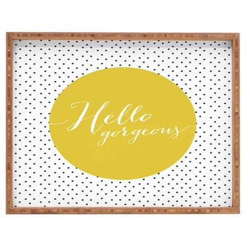 Allyson Johnson Hello Gorgeous Rectangle Tray - Yellow - Deny Designs® - image 1 of 1