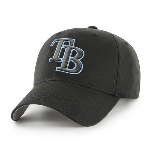 MLB Tampa Bay Rays Classic Black Adjustable Cap/Hat by Fan Favorite - image 1 of 2
