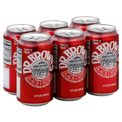 Dr. Brown's® Soda Black Cherry 6 pk - image 1 of 2