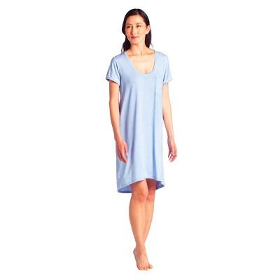 Softies Women's Sleep Shirt with Contrast Piping