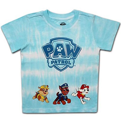Nickelodeon Boy's Paw Patrol Tie Dye Graphic Crewneck Tee For Toddlers