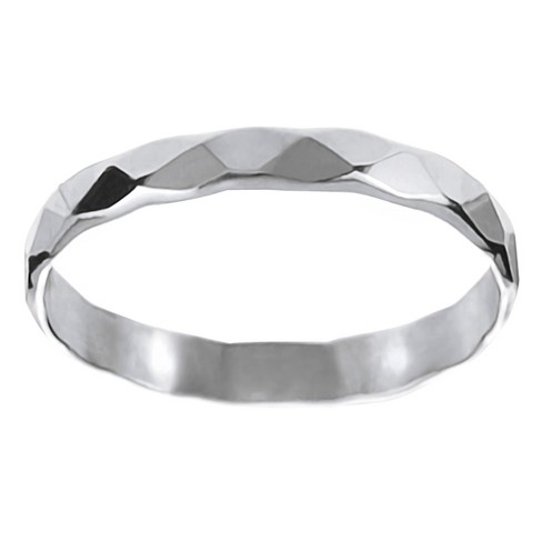 Women's Journee Collection Handcrafted Faceted Band in Sterling Silver - Silver - image 1 of 2