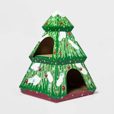 Double Decker Holiday Tree Cat Scratcher House - XL - Wondershop™