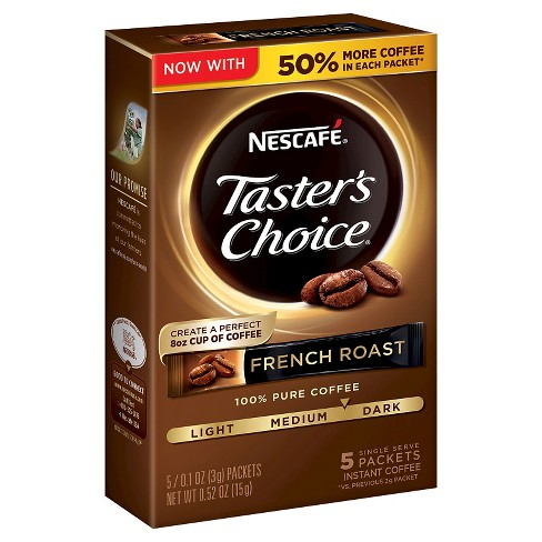 Nescafé Taster's Choice French Roast Instant Coffee - 5ct - image 1 of 5