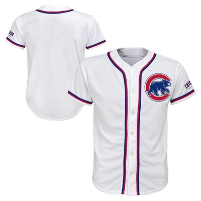 reputable site d4365 5cf6a MLB Chicago Cubs Boys' White Team Jersey