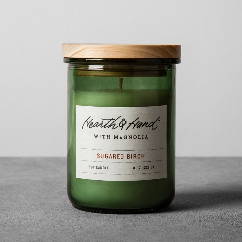 8oz Lidded Jar Container Candle Sugared Birch - Hearth & Hand™ with Magnolia - image 1 of 3
