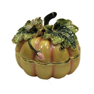 "Hinged Trinket Box 2.0"" Pumpkin Box Magnetic Thanksgiving  -  Decorative Figurines"