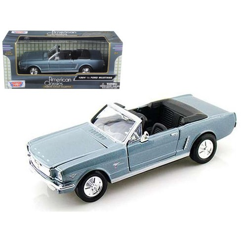 1964 1 2 Ford Mustang Convertible Blue 24 Cast Model Car By Motormax Target
