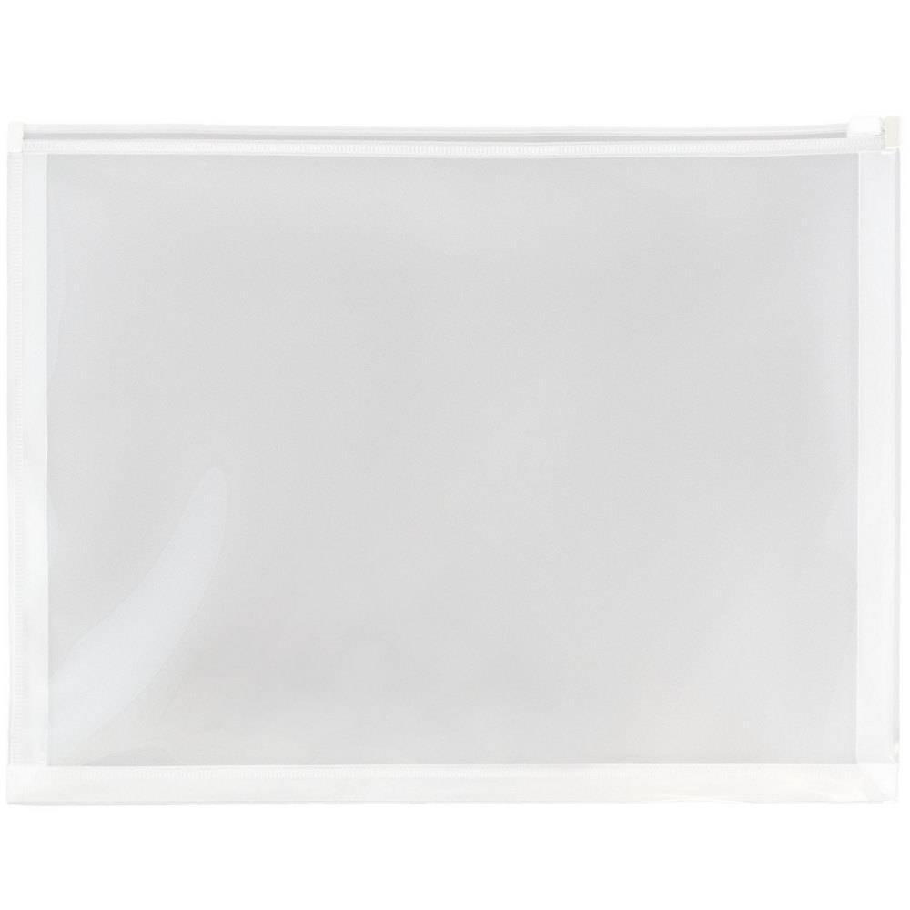 Jam Paper 9 1/2'' x 12 1/2'' 12pk Plastic Envelopes with Zip Closure, Letter Booklet - Clear Jam Paper 9 1/2'' x 12 1/2'' 12pk Plastic Envelopes with Zip Closure, Letter Booklet - Clear