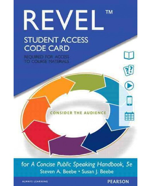 Concise Public Speaking Handbook Revel Access Card (Hardcover) (Steven A. Beebe & Susan J. Beebe) - image 1 of 1