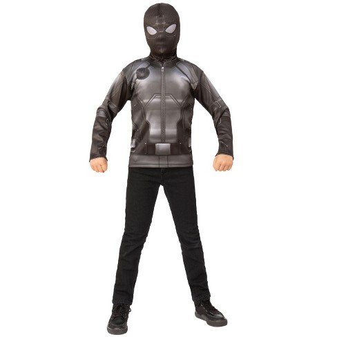 Rubies Spider-Man Far From Home: Spider-Man Costume Top (Stealth Blk/Gray Suit) Costume (Size S) - image 1 of 1