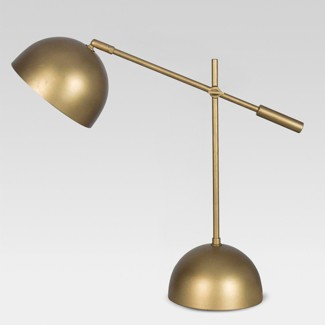 Metal Dome Task Table Lamp Gold (Includes Energy Efficient Light Bulb) - Project 62™ + Leanne Ford