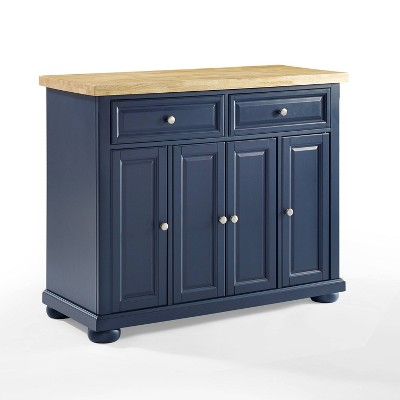 Madison Kitchen Island Navy - Crosley