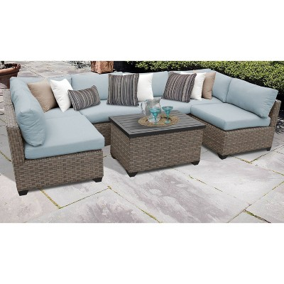 Monterey 7pc Sectional Seating Group with Cushions - TK Classics